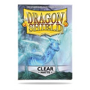 Picture of Matte Clear  Standard Sleeves (100) dragon shield