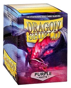 Picture of Matte Purple  Standard Sleeves (100) dragon shield