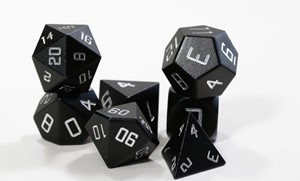 Picture of Black Aluminium Metal Dice