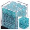 Picture of Chessex Cirrus™ 12mm d6 Light Blue/white Dice Block™