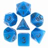 Picture of Blue Glow in the Dark Dice Set - Clamshell