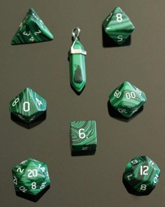 Picture of Malachite Dice Set