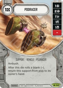 Picture of  Podracer Comes With Dice