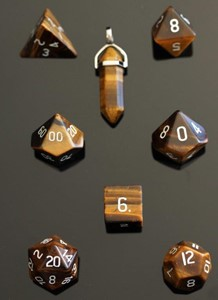 Picture of Tigers Eye Dice Set