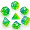 Picture of Blue Green Yellow Shimmer Dice Set