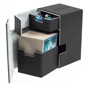 Picture of BlackUltimate Guard Standard Size XenoSkin 100 Plus Flip-n-Tray Deck Case
