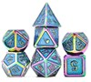 Picture of Colorful Plating Blue Glitter Metal Dice Set