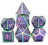 Picture of Golden Colorful Plated Metal Dice Set